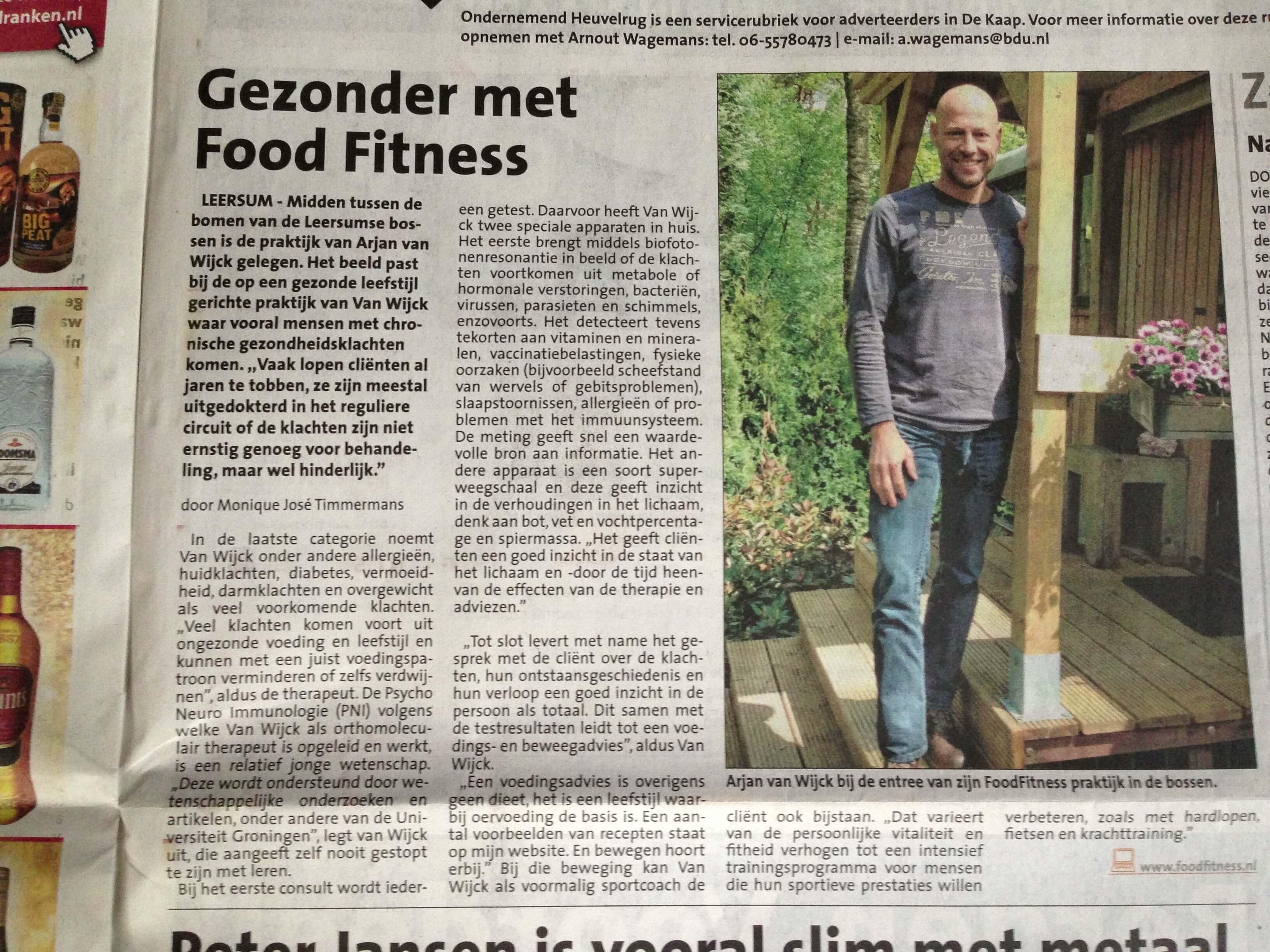 FoodFitness in het nieuws