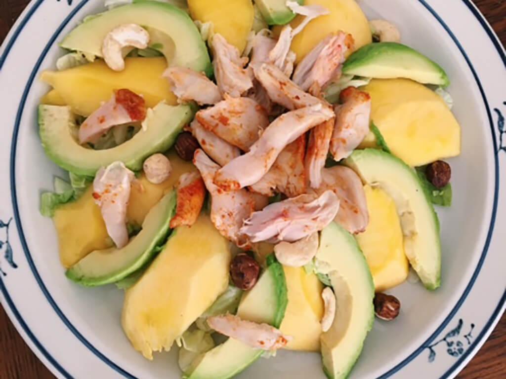 Maaltijdsalade mango kip