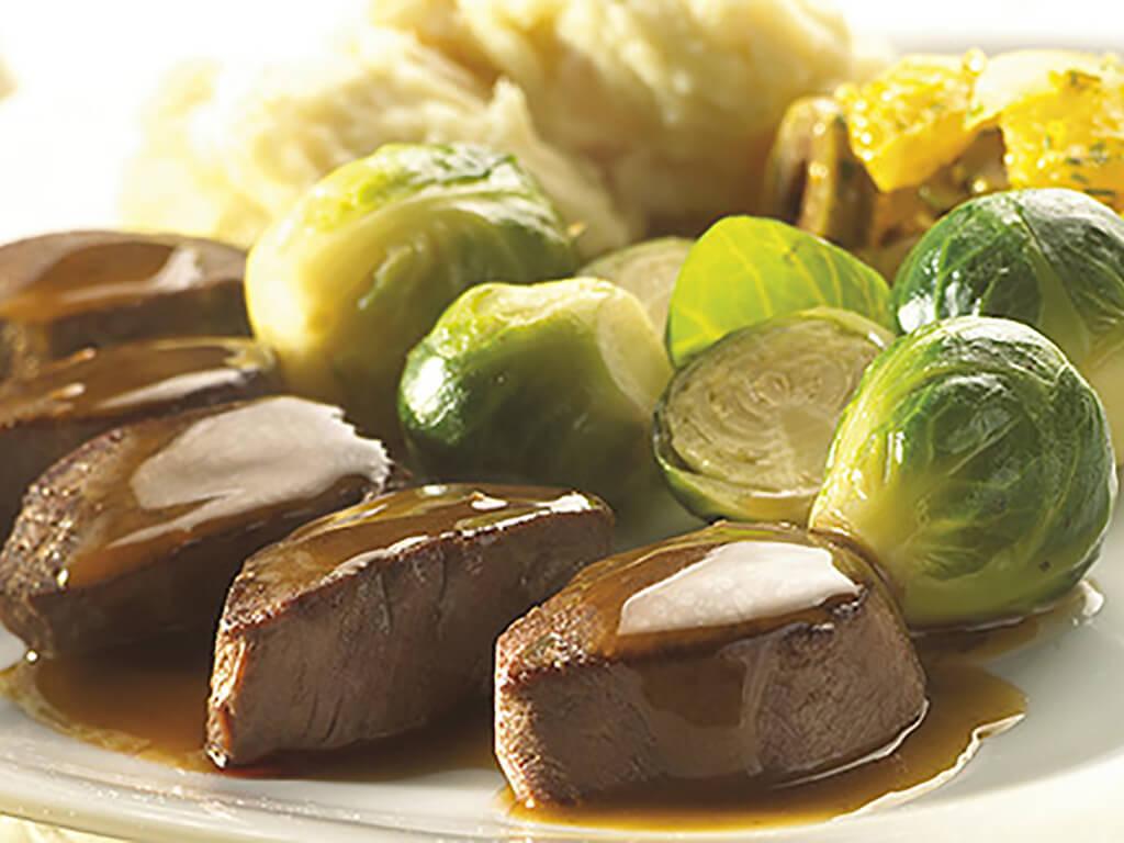 Rundvlees met spruiten