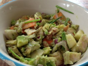 Salade kip avocado wortel